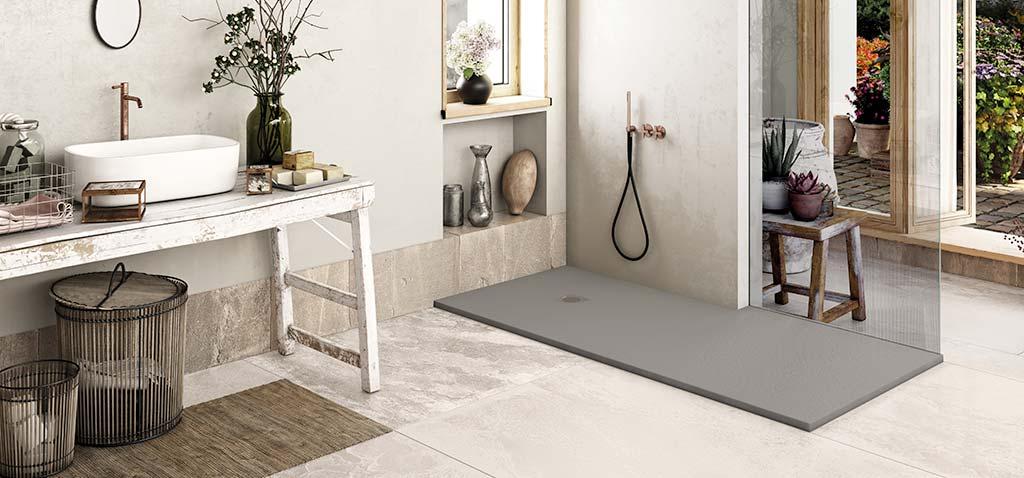 Ambiente plato de ducha flexible hormigón Square Drain