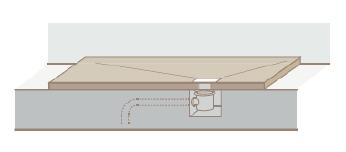 Instalación plato de ducha sobre suelo
